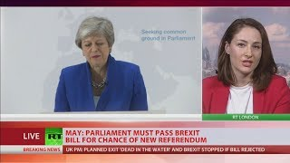 British Prime Minister Theresa May said MPs will get the chance to ...