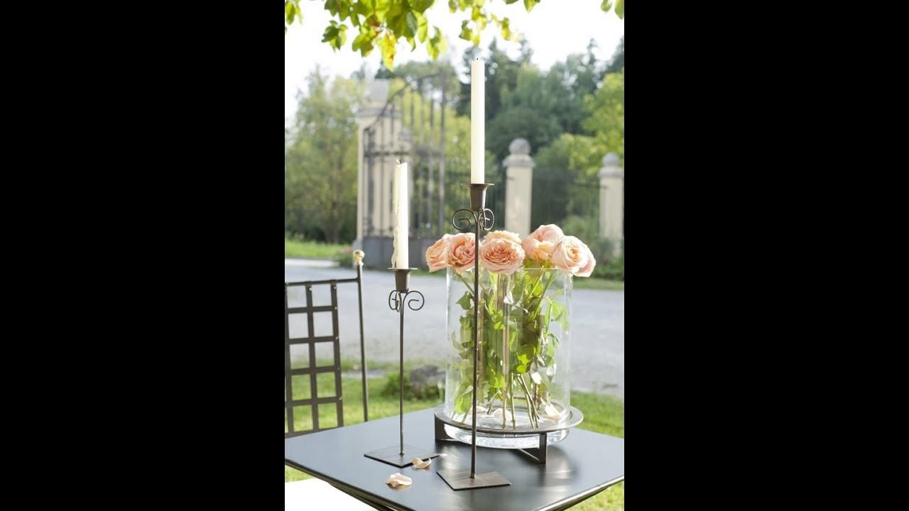 Landhausdeko   Ideen Mit Zarten Schwüngen   Kerzenständer Metall Isabel |  VARIA LIVING