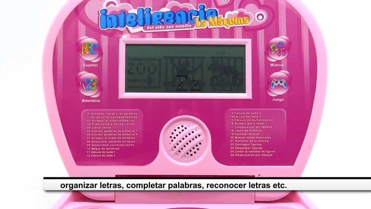 Computador Didactico De Juguete Para Ninas 50 Actividades Pantalla
