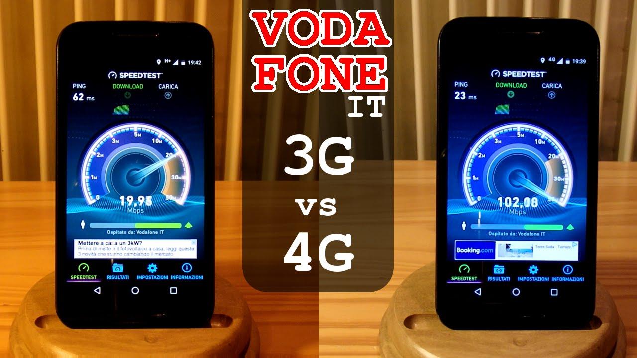 3G vs 4G Vodafone SPEED TEST in Italy