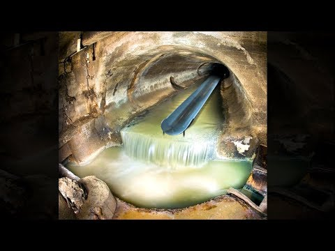 kid finds secret underground water slide..