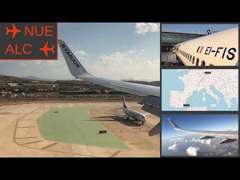 TRIP REPORT | Nuremberg To Alicante  | Ryanair | NUE - ALC | FR7884 | FLIGHT REPORT