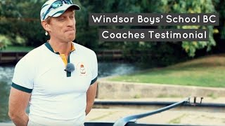WinTech Racing Shells Testimonial - Director of Rowing Mark Wilkinson (Windsor Boys' School)