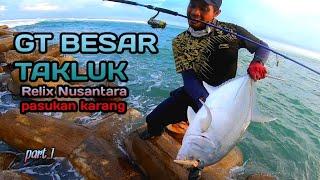 Gt besar takluk | mancing pinggiran | shore jigging vs ultralight fishing | HFB32 part 1