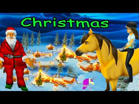 Snow & Santa ! Christmas Town  Star Stable Horses Game Let's Play with Honey Hearts Video