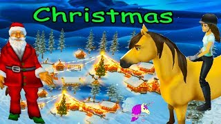 Snow & Santa ! Christmas Town  Star Stable Horses Game Let