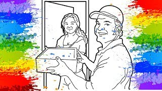 DRAW | Delivery Man | ColorsCorner | Drawing | for Kids | color page|  art video for children