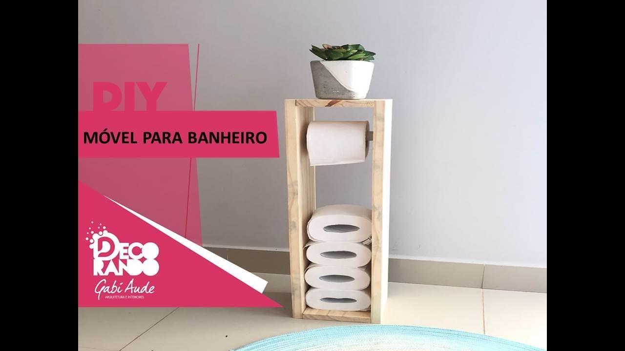 Diy m vel para banheiro suporte para papel higi nico youtube - Dove mettere il porta carta igienica ...