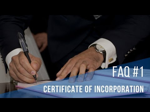 FAQ #1 Certificate of Incorporation : What exactly it is?   IncParadise