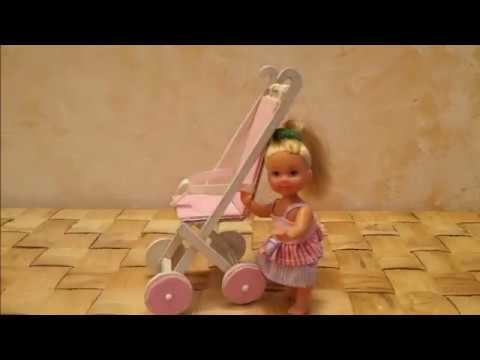 Diy come realizzare un passeggino per barbie con una for Come costruire i passaggi della scatola