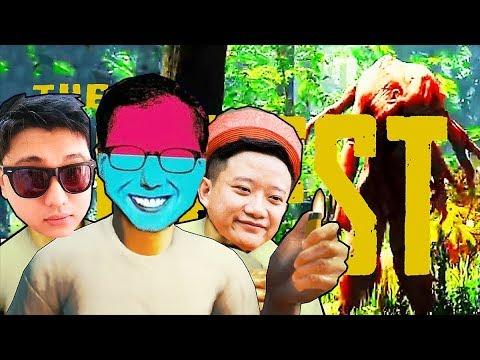 THE FOREST ĐỤT 1: CÙNG ĐẠT, VŨ, HUNTER QUAY LẠI ĐẢO SINH TỒN !!! Chế độ hardest !!!