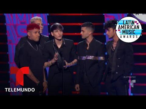 CNCO gana el premio Dúo o Grupo Favorito en los Latin AMAs 2019 | Latin AMAs 2019