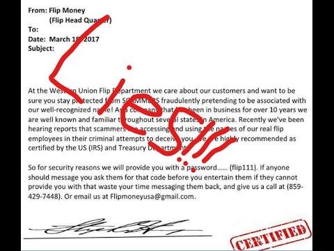 Western Union Flips [Scam Proof Warning]