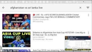 Afghanistan vs srilanka live cricket Asia cup 2018