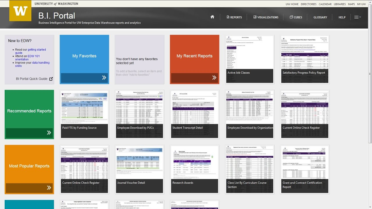 Business Intelligence Portal Overview Youtube