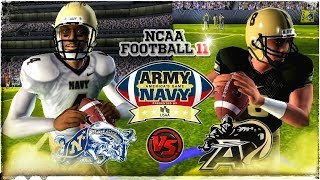 NCAA Football 11 in 2018 Army vs Navy | Americas Game!!! PS2 4KHD