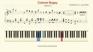 "How To Play Piano: ""Colonel Bogey"" Piano Tutorial by Ramin Yousefi"