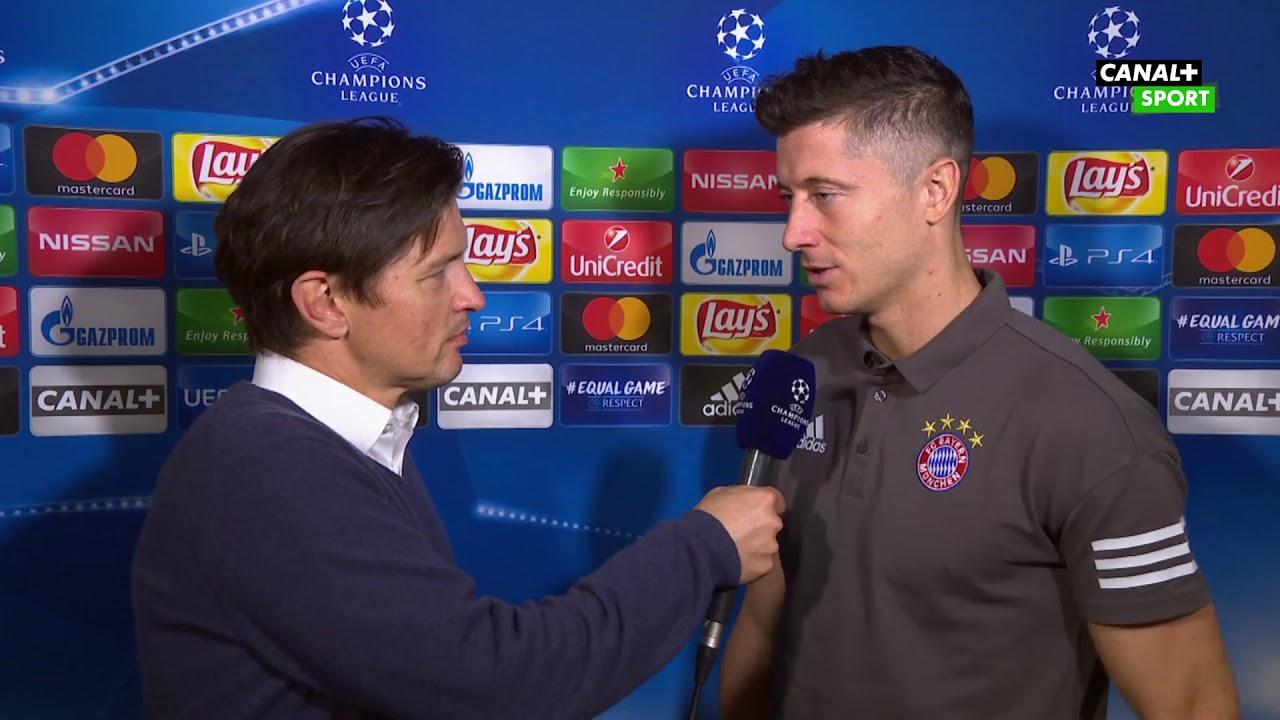 Wywiad z Robertem Lewandowskim    Liga Mistrzów UEFA    PSG - Bayern 3:0
