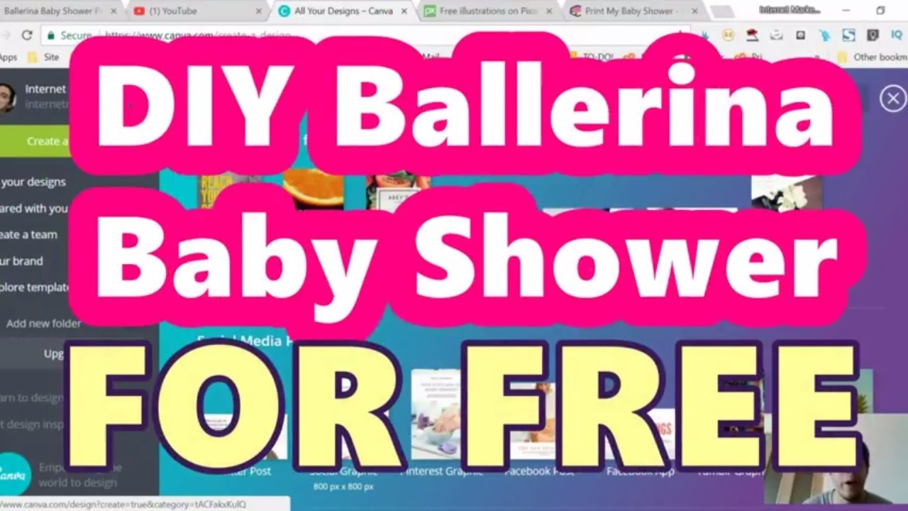 Diy Ballerina Baby Shower Decorations And Games That You Can Print Out