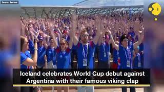 Download Video Iceland's famous 'viking clap' rocks Russia MP3 3GP MP4