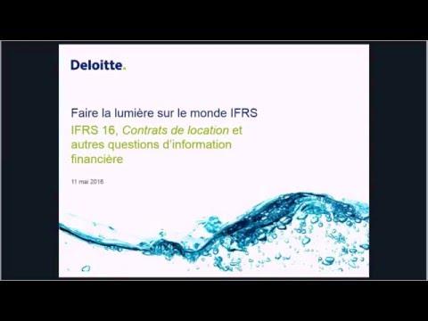 IFRS16, Contrats de location et autres questions d'information financière