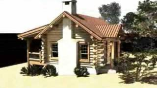 The Shasta Cabins: Small Log Cabin Plans By Gravitas
