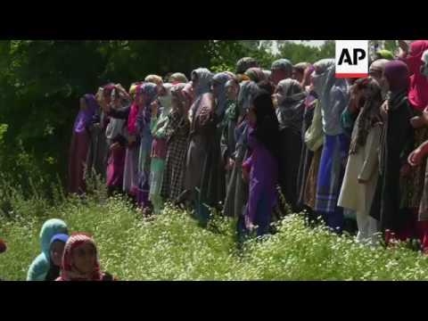 Funerals for those killed in Kashmir violence