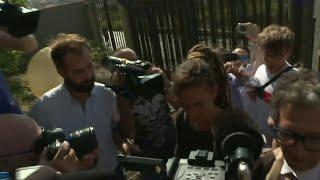 Sea Watch captain Carola Rackete arrives at Sicilian court questioning   AFP