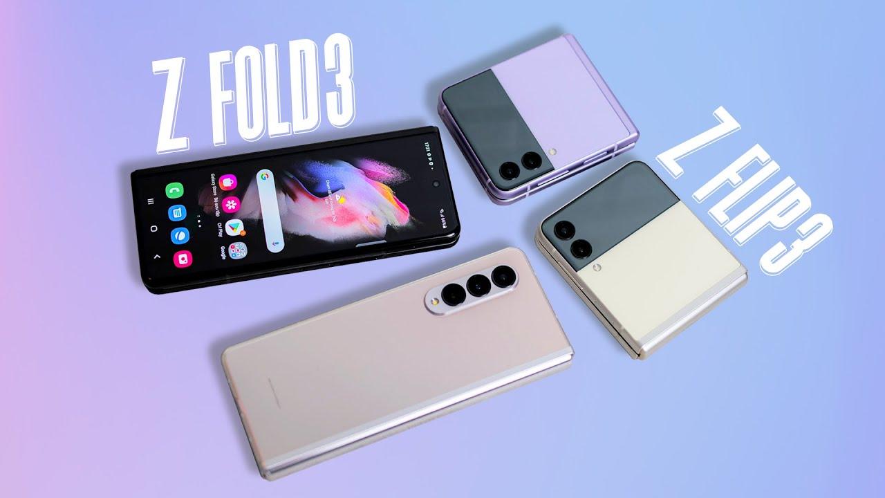 Mở hộp bộ đôi Samsung Galaxy Z Fold3 và Z Flip3 chính hãng