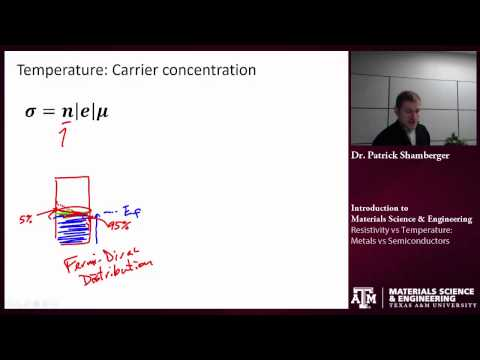 Electrical properties: Temperature and resistivity {Texas A&M: Intro to Materials}