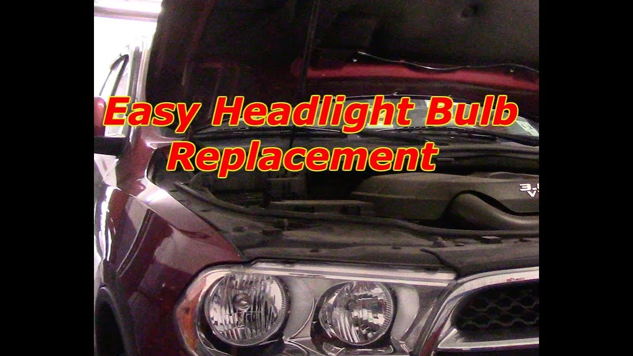 How To Replace A Headlight Bulb 2011 2018 Dodge Durango Youtube