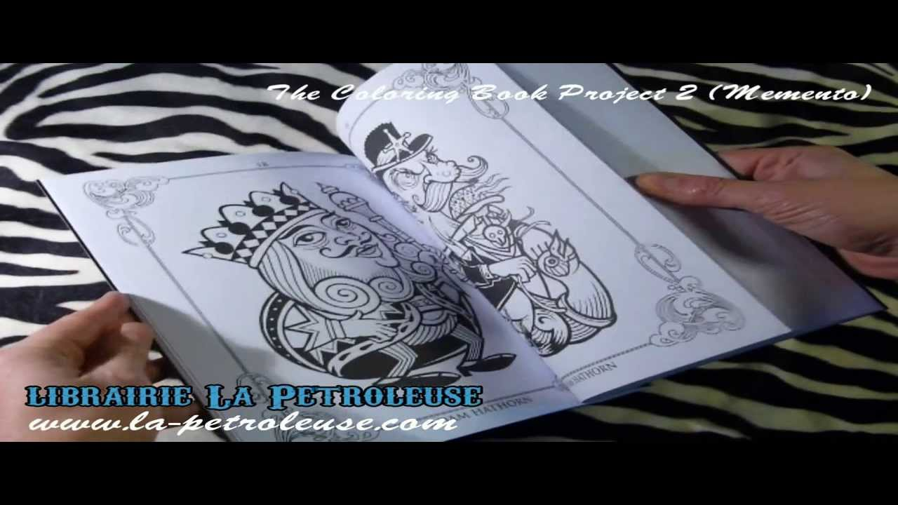 The coloring book project 2nd edition - Livre Book The Coloring Book Project 2 Memento Publishing Librairie La Petroleuse 2016