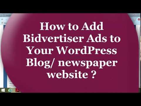 How to Add Bidvertiser Ads to Your WordPress Blog/newspaper website   Bangla ad Tutorial   Part-2