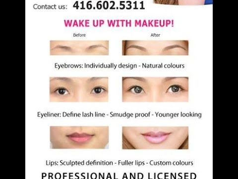 Eyebrows eyeliner tattoo Semi & Permanent Makeup: Step by Step