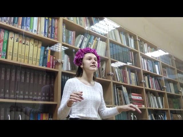 Изображение предпросмотра прочтения – ЕлизаветаРакитина читает произведение «Белой ночью месяц красный...» А.А.Блока