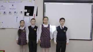 Интегрированный урок в 3 классе окружающий мир + английский язык . Наблюдение за погодой
