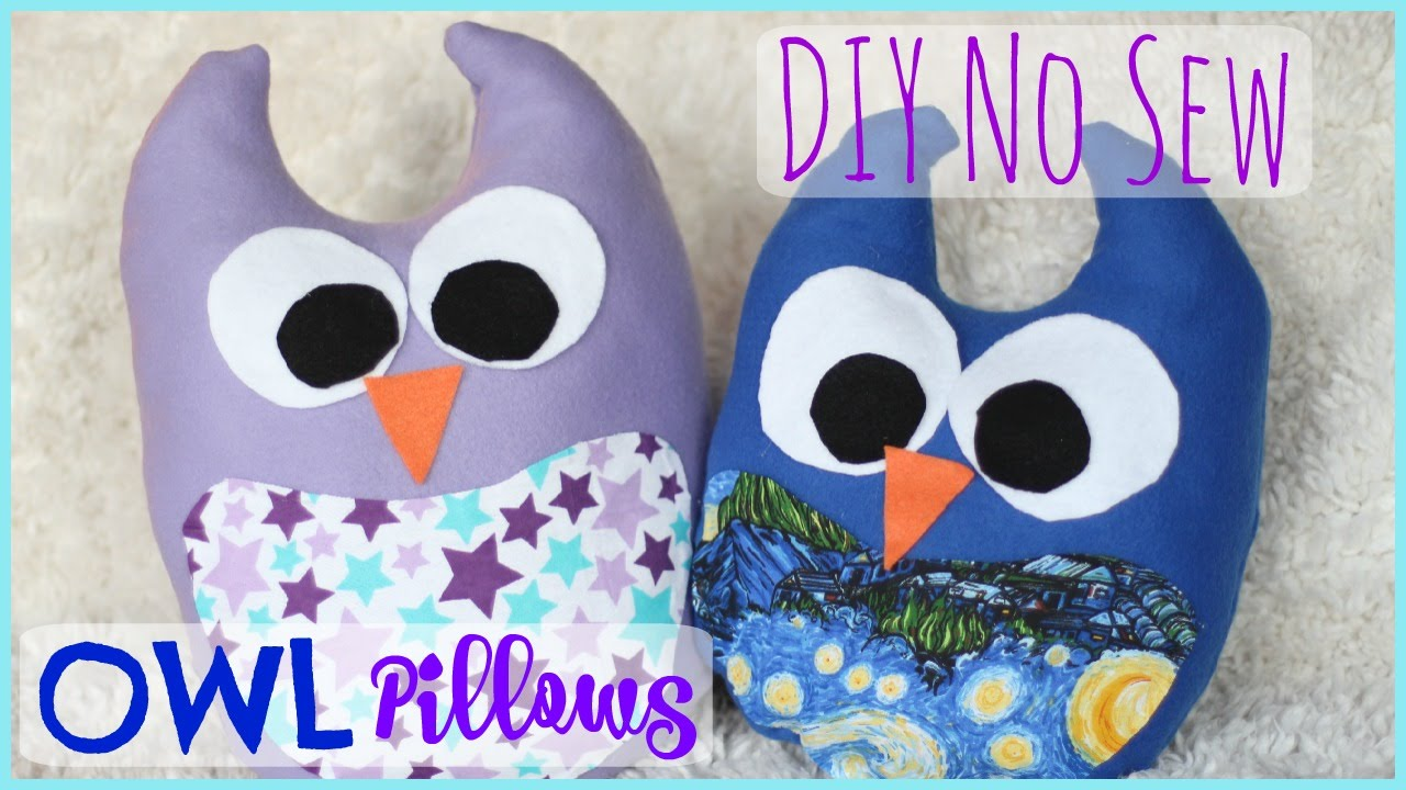 Diy No Sew Owl Pillow: DIY No Sew Owl Pillow   Pinterest Inspired   YouTube,