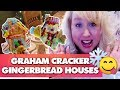 SO FUN! Graham Cracker Gingerbread Houses + Royal Icing Recipe | VIRTUAL COOKIE EXCHANGE COLLAB