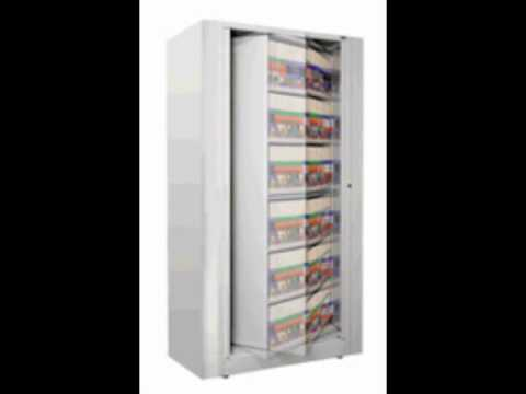 Rotary filing cabinets turning files space saver storage systems ...