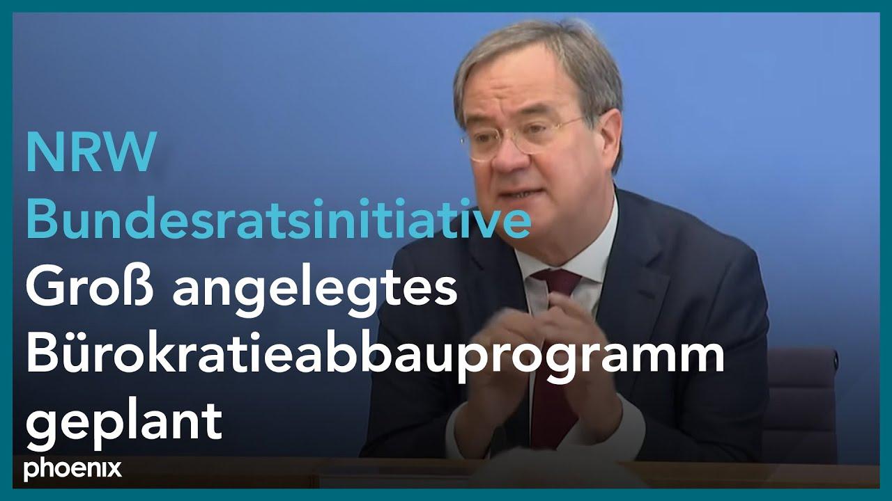 Armin Laschet Und Andreas Pinkwart Zur Bundesratsinitiative Der Nrw Landesregierung Am 06 10 20 Youtube