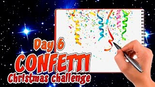 🏆 How to draw confetti | 30 days draw #Challenge DAY 6