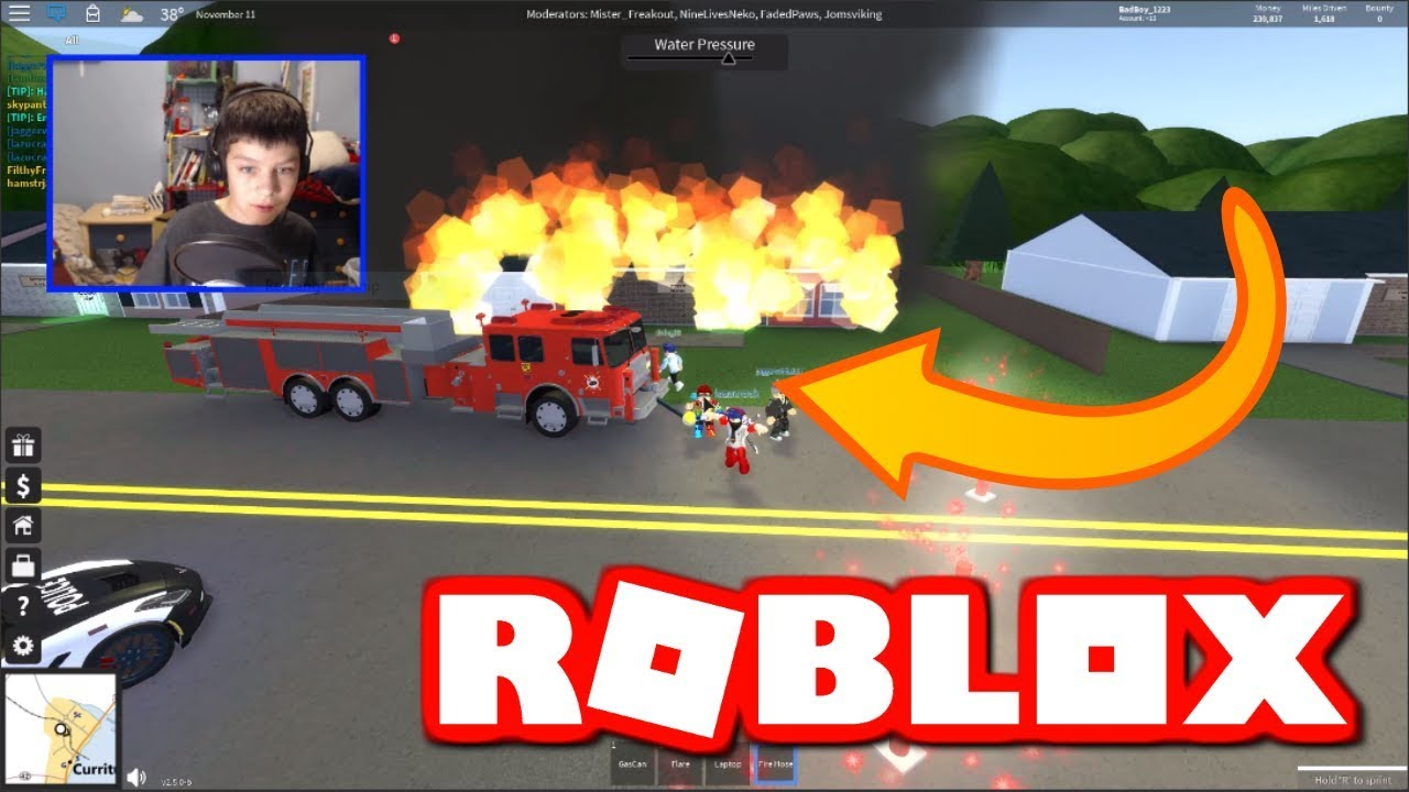 Becoming A Firefighter In Ultimate Driving Roblox Youtube