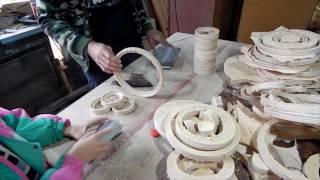 Кристалка часть 23 режем кольца на станке и обрабатываем вручную