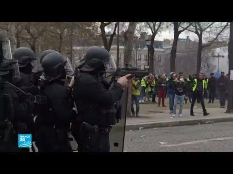 البرلمان الأوروبي يدين استخدام قاذف الكرات الدفاعية ضد المتظاهرين في فرنسا  - 15:55-2019 / 2 / 15