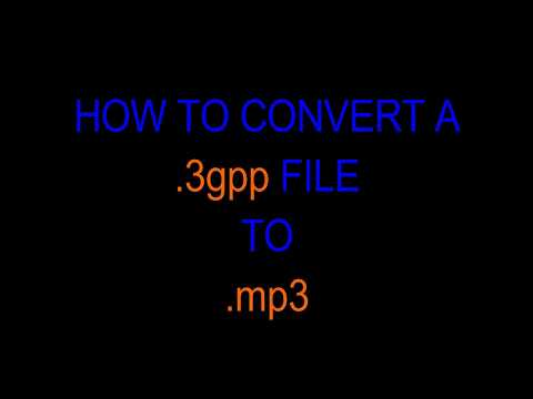 How to convert 3gpp file to mp3 file without any software