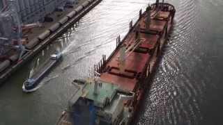 Chargement de céréales au Port de Rouen