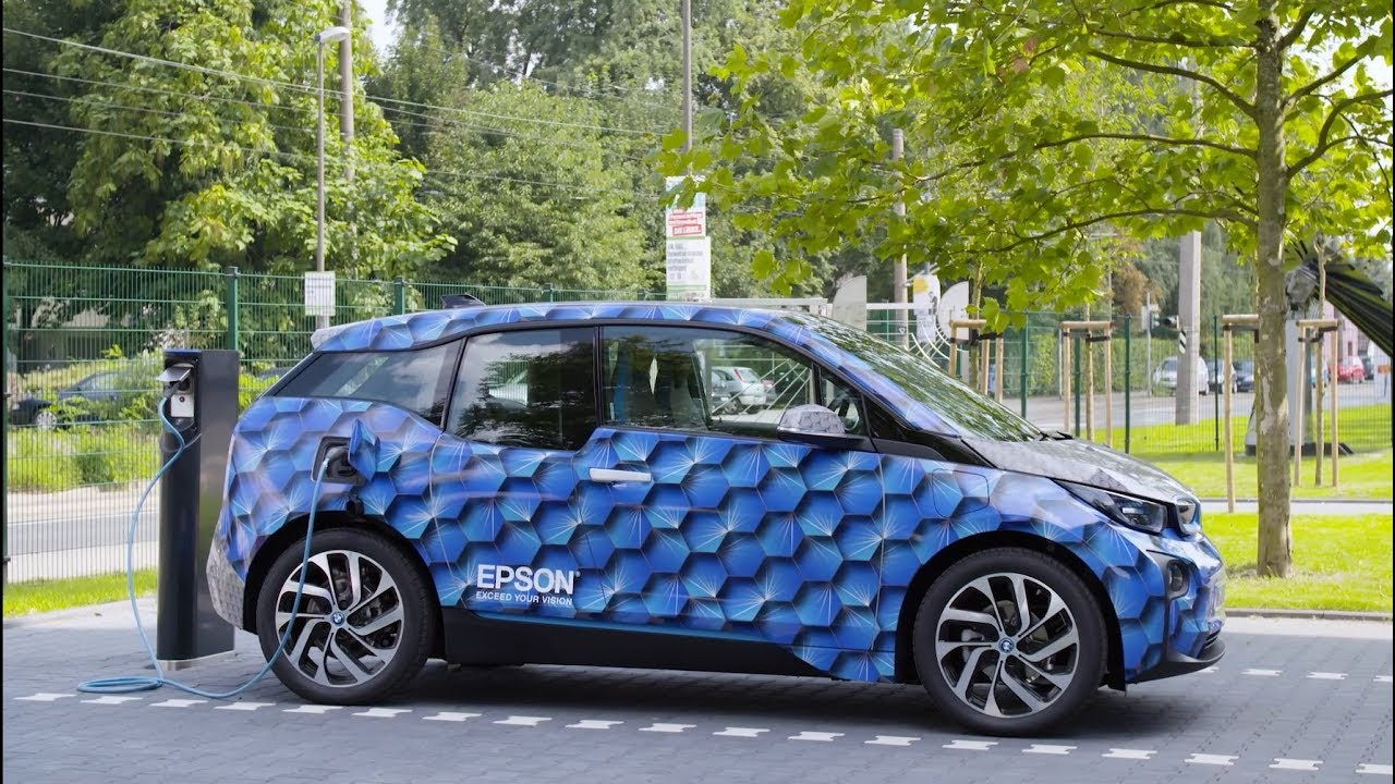 Car Wrapping An Electric Powered Bmw I3 Youtube