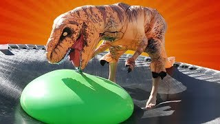 Jurassic World's Secret Dinosaur VS Giant 6ft Water Balloon
