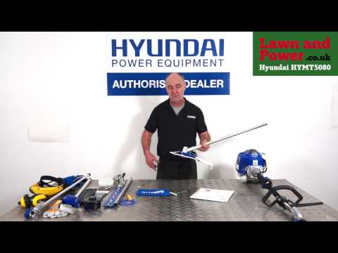 How to Assemble HYMT5080 Petrol Multi-Tool - Hedge Trimmer / Brush Cutter / Chainsaw from Hyundai