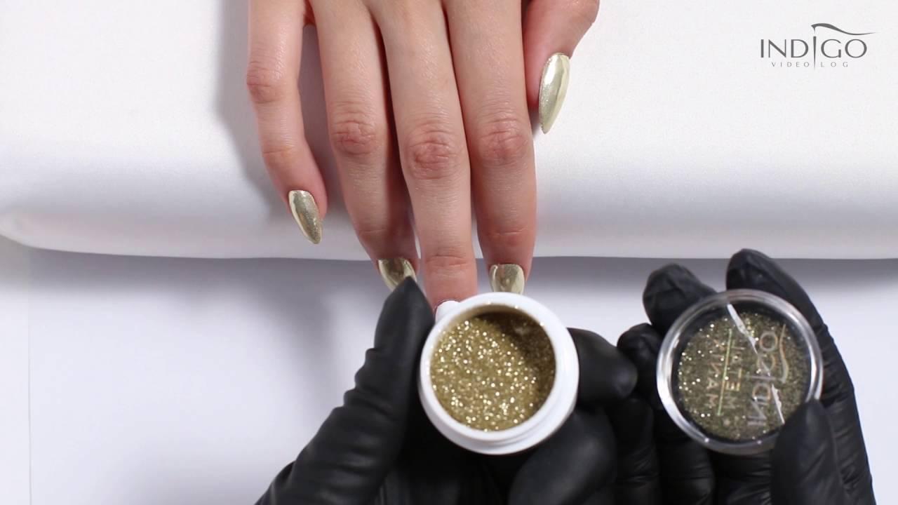 Złoty Efekt Chromu Metal Manix Light Gold Indigo Efekt Lustra